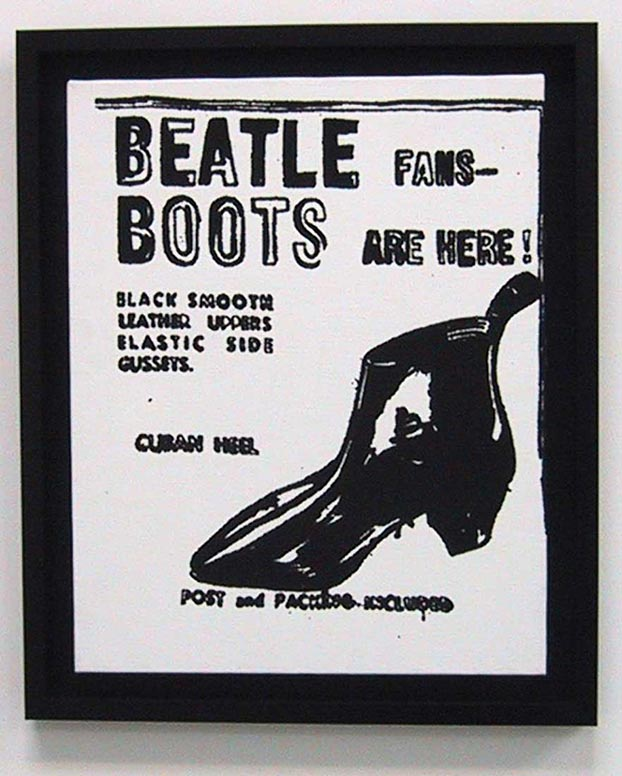 famous painting Beatle Boots of Andy Warhol