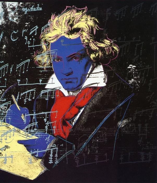 famous painting Beethoven of Andy Warhol