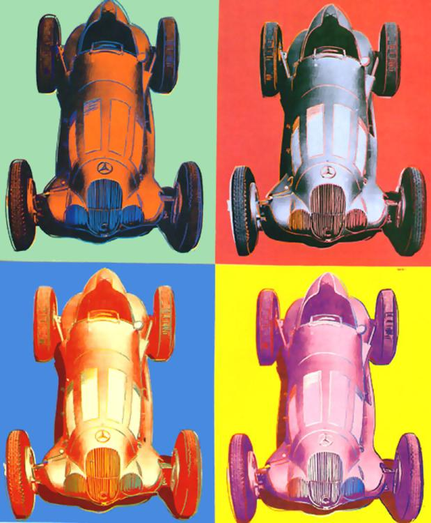 famous painting Benz Racing Car of Andy Warhol