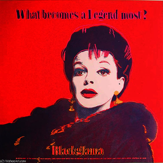 famous painting Blackglama (Judy Garland) of Andy Warhol