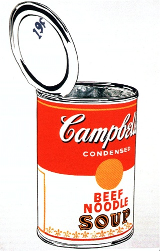 famous painting Campbell'S Soup Can (beef) of Andy Warhol