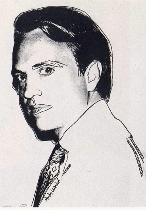 famous painting Carter Burden (white) of Andy Warhol