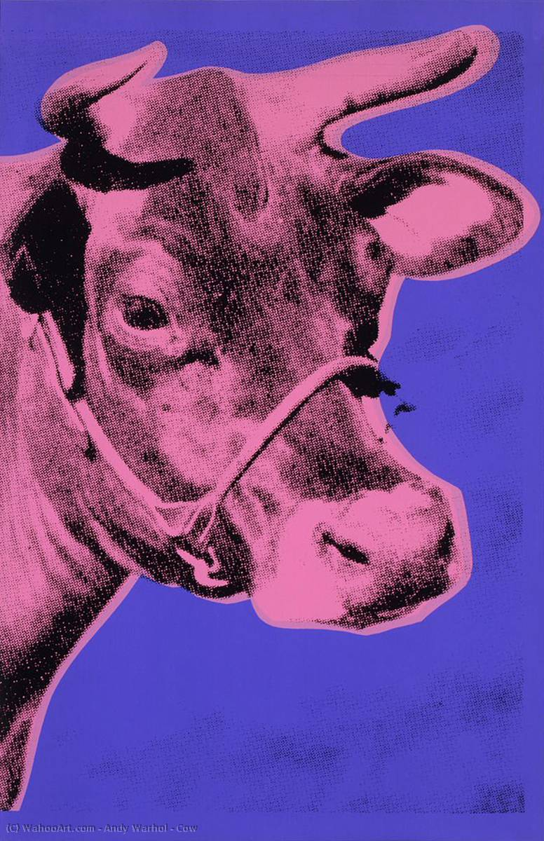 famous painting Cow of Andy Warhol