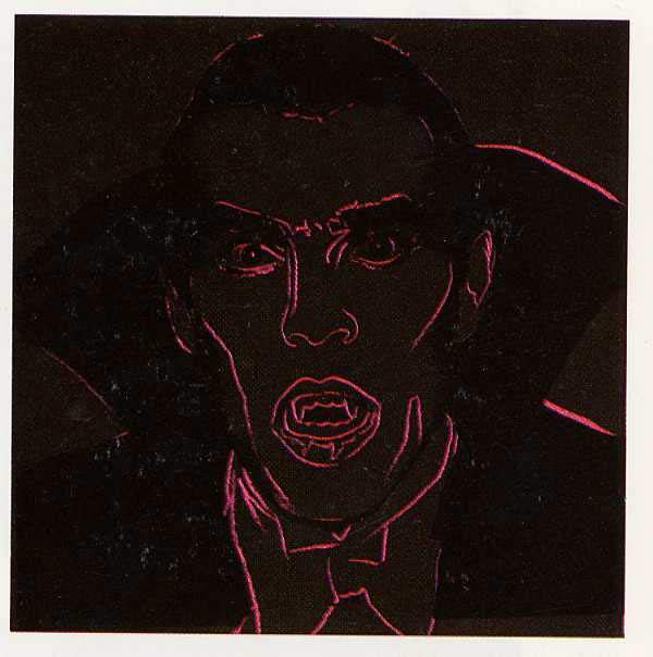 famous painting Dracula of Andy Warhol