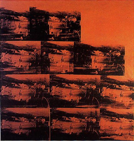 famous painting Five Deaths Eleven Times In Orange of Andy Warhol