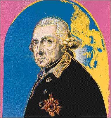 famous painting Friedrich Der Grosse of Andy Warhol