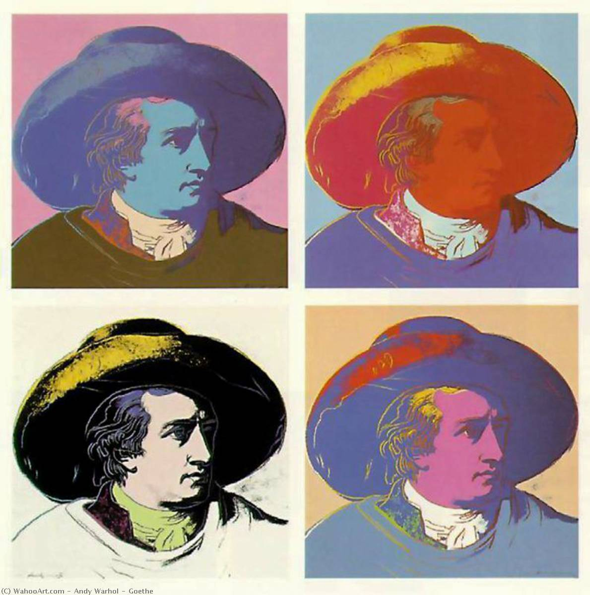 famous painting Goethe of Andy Warhol