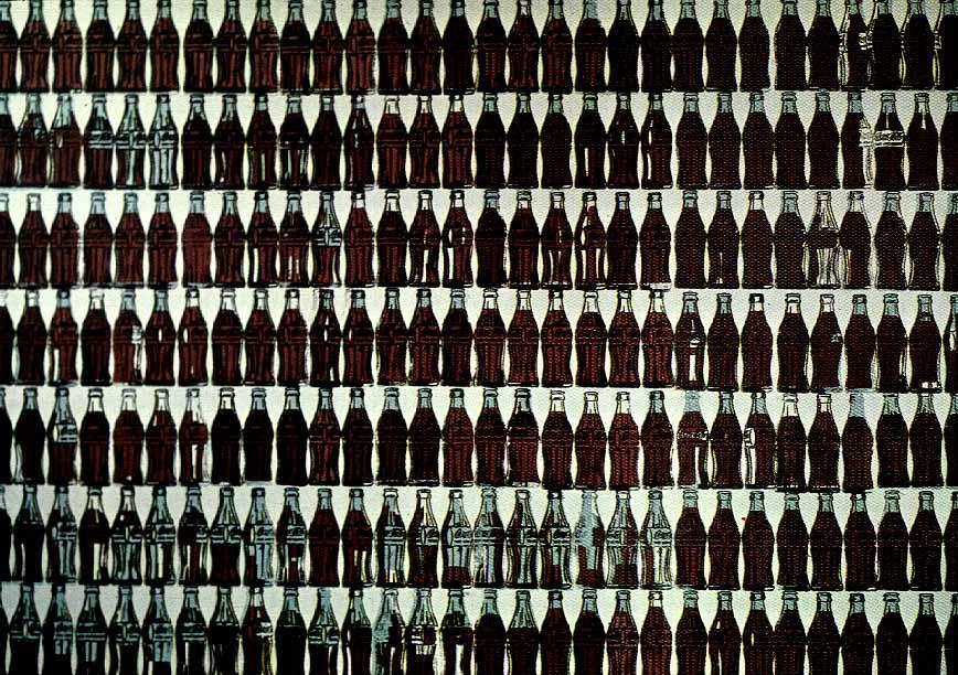 famous painting Green Coca-Cola Bottles of Andy Warhol