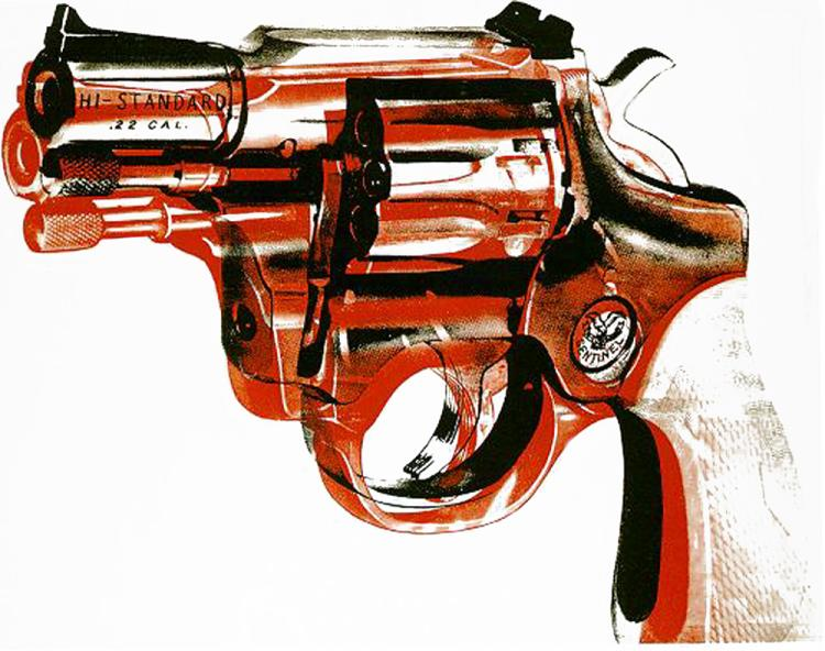 famous painting Gun of Andy Warhol