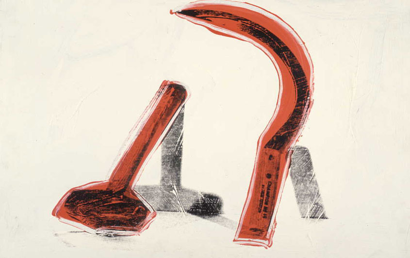 famous painting Hammer And Sickle of Andy Warhol