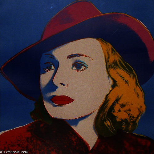 famous painting Ingrid Bergman With Hat of Andy Warhol