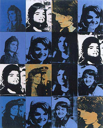famous painting Jackies of Andy Warhol