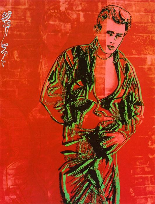 famous painting James Dean of Andy Warhol