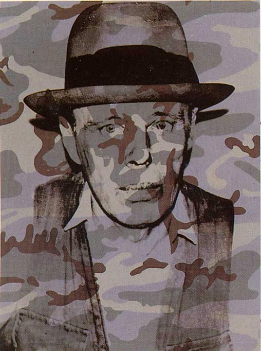 famous painting Joseph Beuys In Memoriam of Andy Warhol