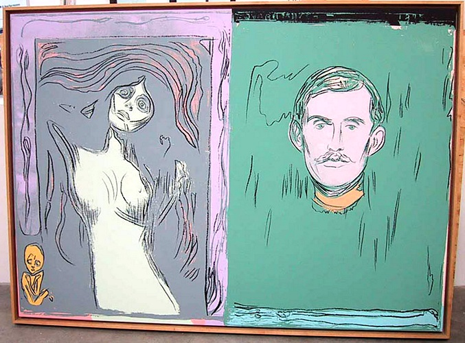 famous painting Madonna And Self-Portrait With Skeleton¹s Arm (after Munch) of Andy Warhol