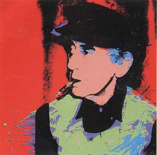 famous painting Man Ray of Andy Warhol