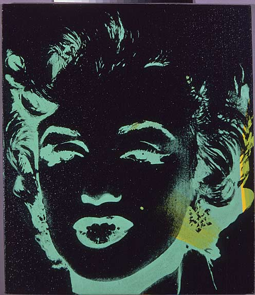 famous painting Marilyn Reversal of Andy Warhol