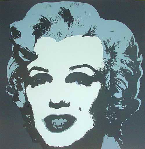 famous painting Marylin Gray of Andy Warhol
