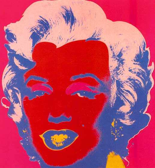 famous painting Marylin Red of Andy Warhol