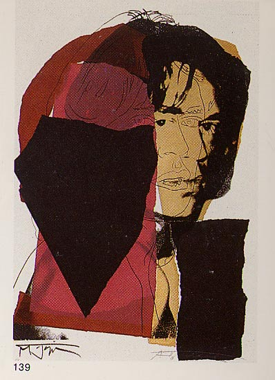 famous painting Mick Jagger of Andy Warhol