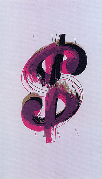 famous painting Paper Dollar of Andy Warhol