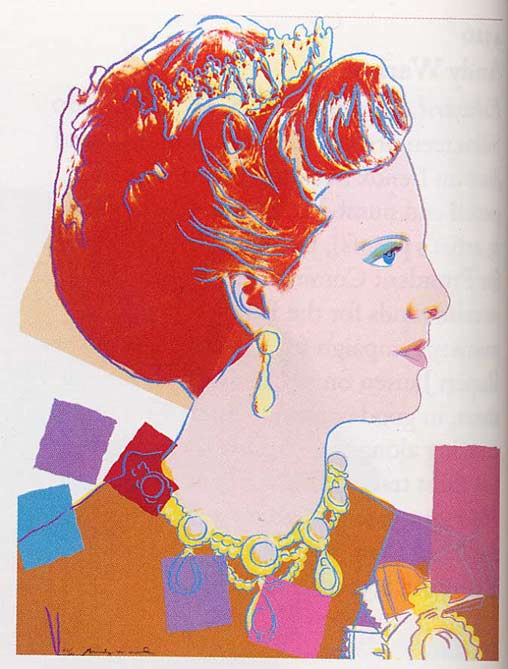 famous painting Queen Margrethe II Of Denmark of Andy Warhol