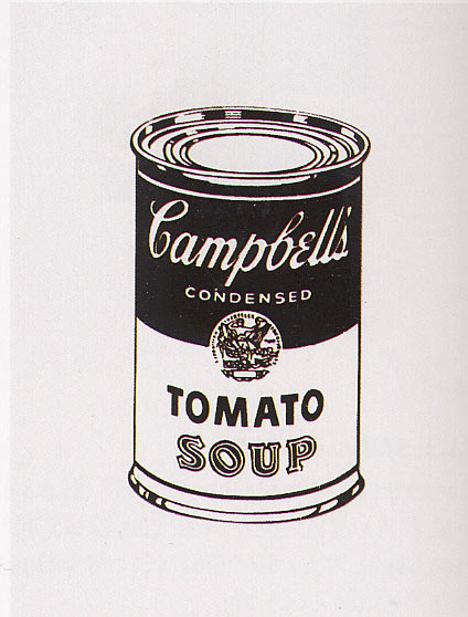 famous painting Retro Soup of Andy Warhol