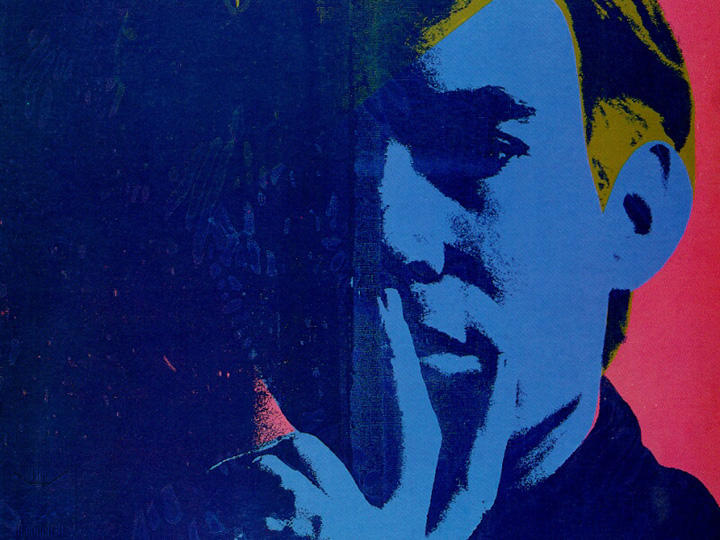 famous painting Self-portrait of Andy Warhol