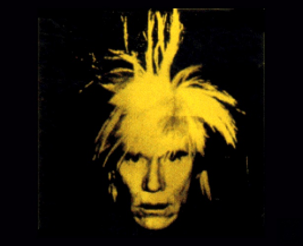 famous painting Selfportrait of Andy Warhol
