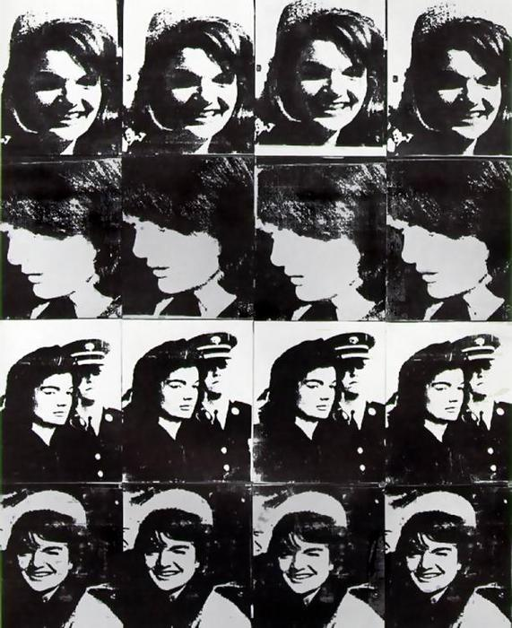 famous painting Sixteen Jackies of Andy Warhol