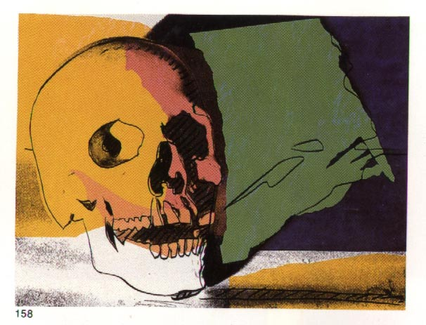 famous painting Skull of Andy Warhol