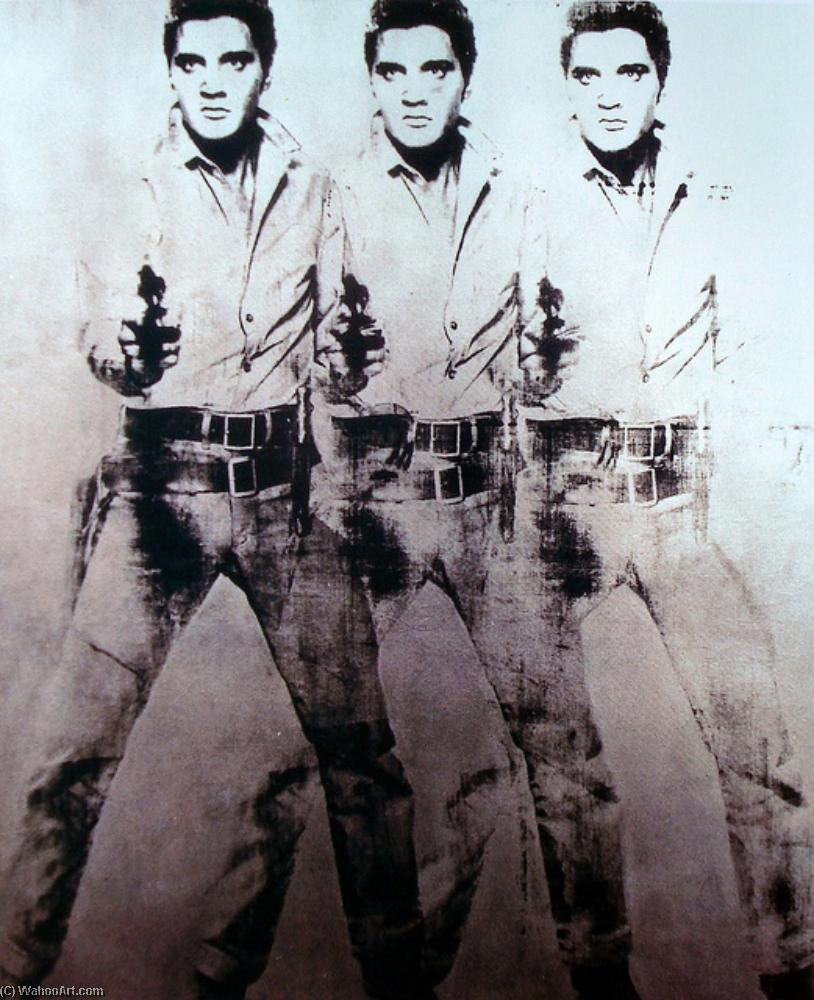 famous painting Triple Elvis of Andy Warhol
