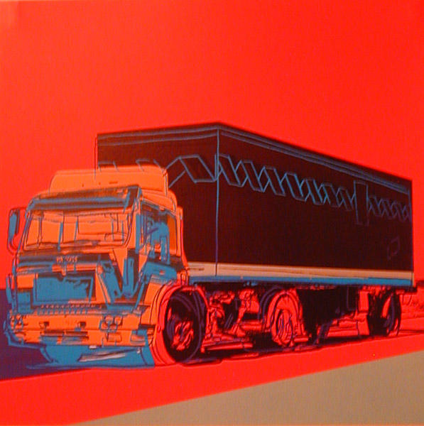 famous painting Truck Announcement of Andy Warhol