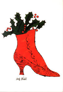 Andy Warhol - Untitled (red Boot Wit Holly)