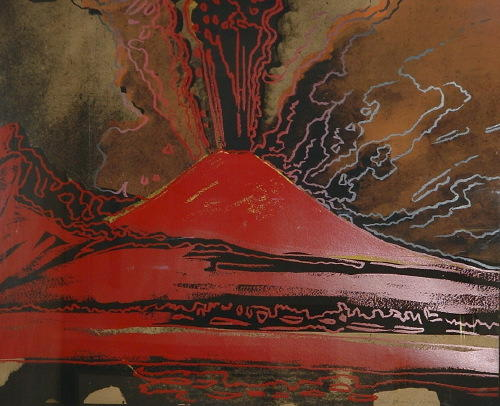 famous painting Vesuvius of Andy Warhol