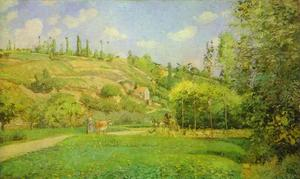 Camille Pissarro - A Cowherd at Pontoise