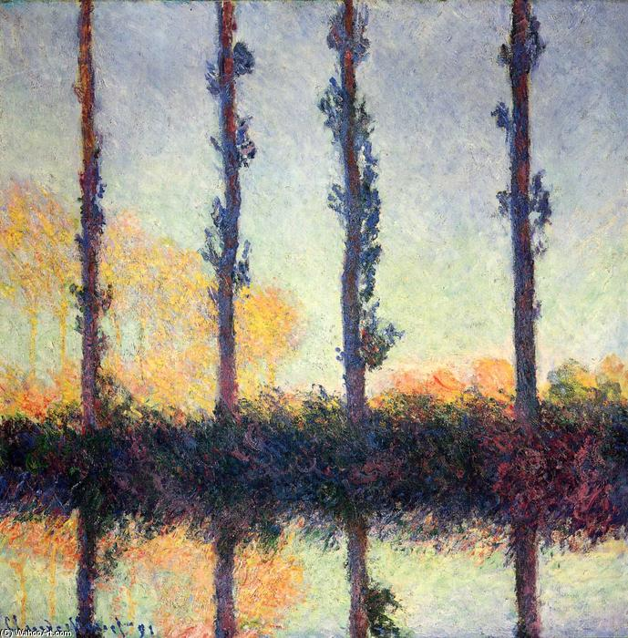 Order Reproductions Pop Art | Poplars (Four Trees) by Claude Monet | BuyPopArt.com