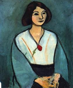 Henri Matisse - Woman in Green with a Carnation