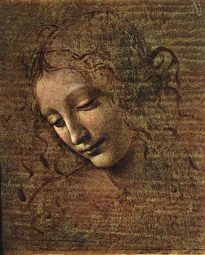 Order Museum Quality Copies Pop Art | Head of a Tousled Young Woman by Leonardo Da Vinci | BuyPopArt.com