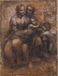 Leonardo Da Vinci - Madonna and Child with St Anne and the Young St John