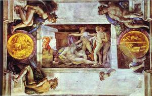 Michelangelo Buonarroti - The Drunkenness of Noah