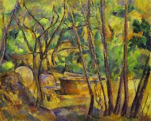Paul Cezanne - Grindstone and Cistern in a Grove