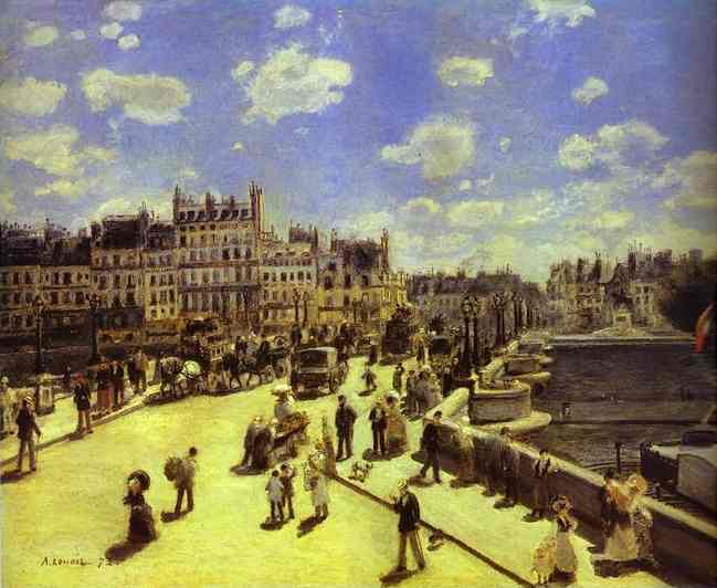 famous painting Pont Neuf, Paris of Pierre-Auguste Renoir