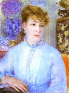 Pierre-Auguste Renoir - Portrait of a Woman. (Portrait de femme)