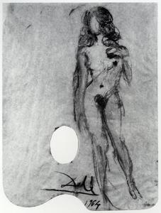 Salvador Dali - Untitled. Female Nude on a Palette, 1964