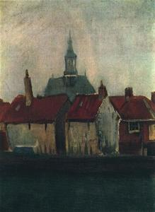 Vincent Van Gogh - Cluster of Old Houses with the New Church in The Hague
