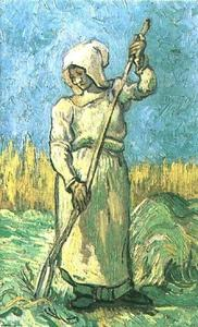 Vincent Van Gogh - Peasant Woman with a Rake after Millet