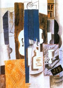 Pablo Picasso - Violin, Bottle, and Glass