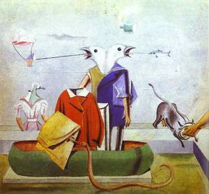Max Ernst - Birds; also; Birds, Fish-Snake and Scarecrow
