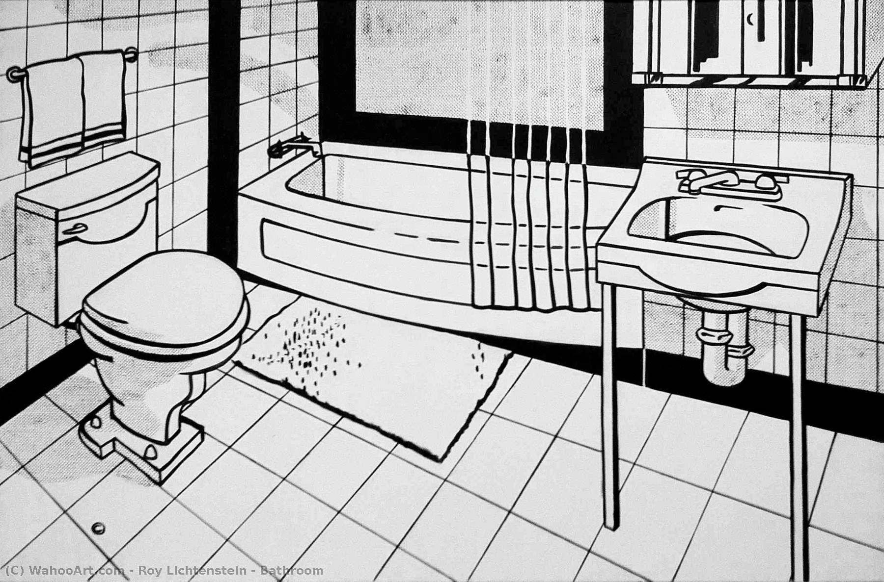 famous painting Bathroom of Roy Lichtenstein